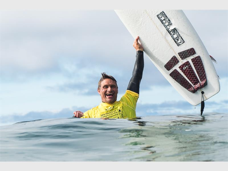 South African Anthony Smyth celebrating his victory. Photo: ISA/Chris Grant