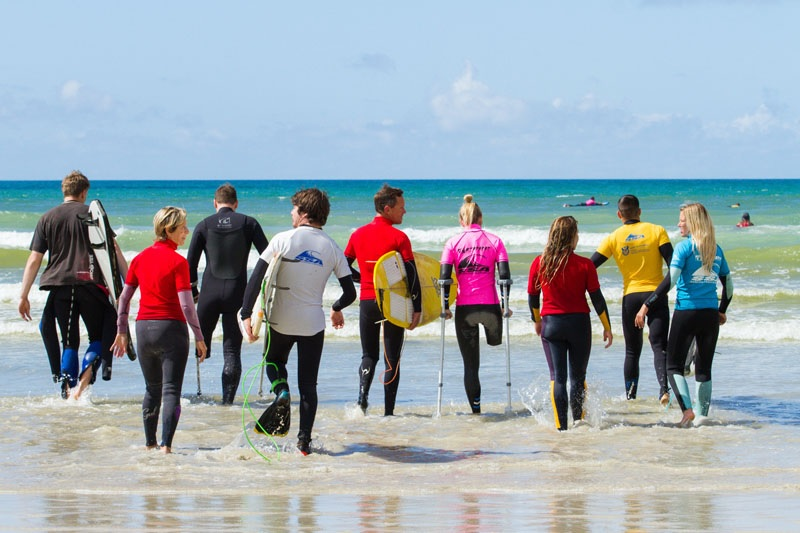 The 2016 South African Adaptive Surfing Championships. Photo: Adaptive Surfing South Africa