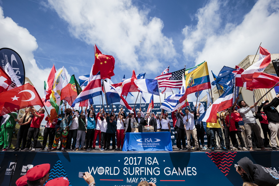 Opening Ceremony at the 2017 ISA World Surfing Games. Photo: ISA/Ben Reed