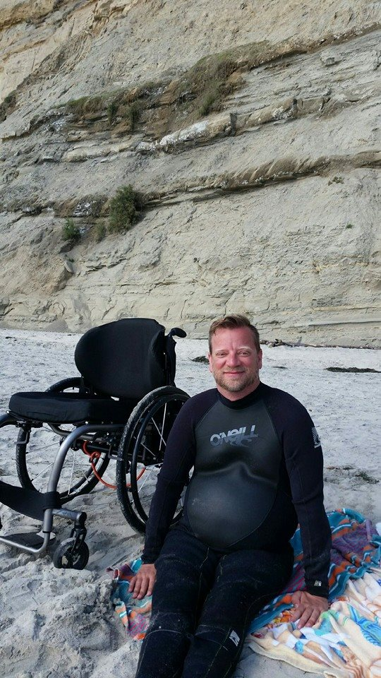 Brock at Blacks Beach