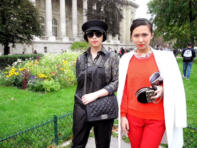 chanel, chanel spring summer 2014, paris fashion week, street style, paris, grand palais