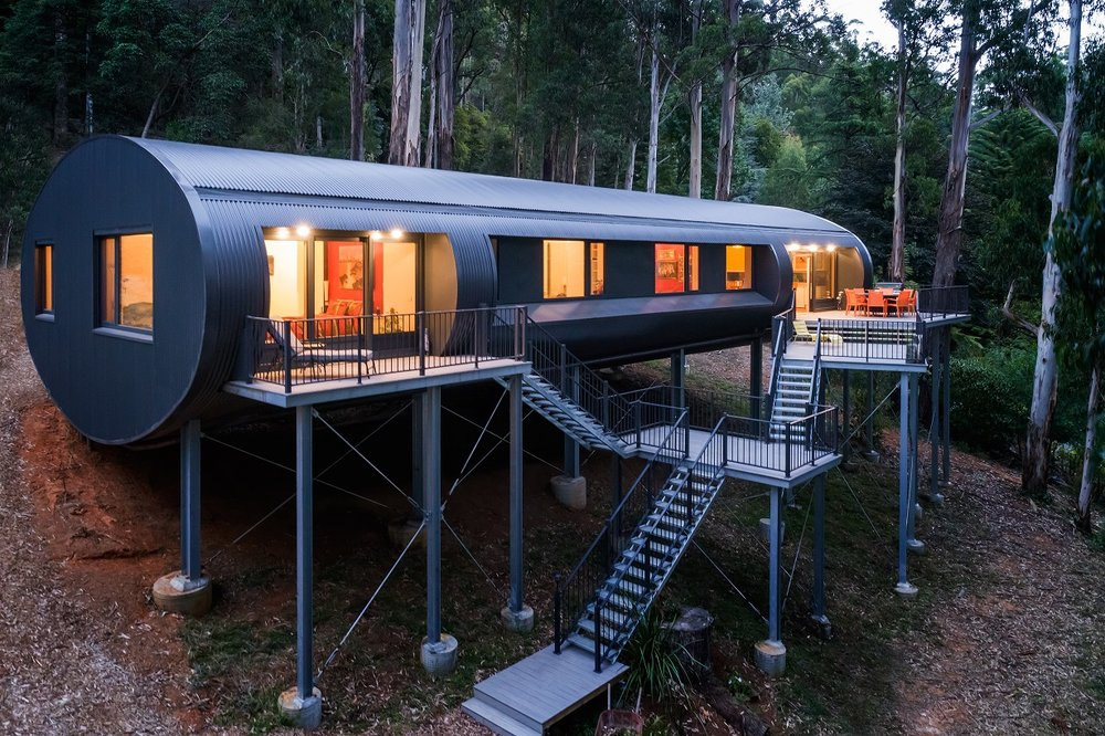 sustainable design, curved structure, best use of steel, bdav awards, HRV system