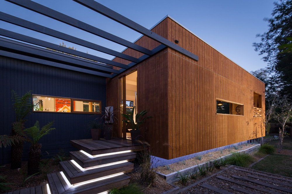 all timber house design,recycled timber floor,interesting deck designs