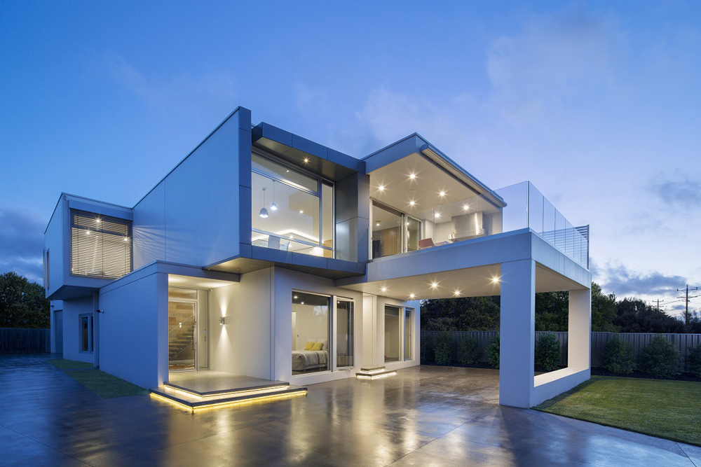 new holiday home,modern concrete home,energy efficient beach house,low maintenance beach house