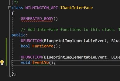 UE4 C++ Interfaces for Blueprint Quickstart — Elliot Gray