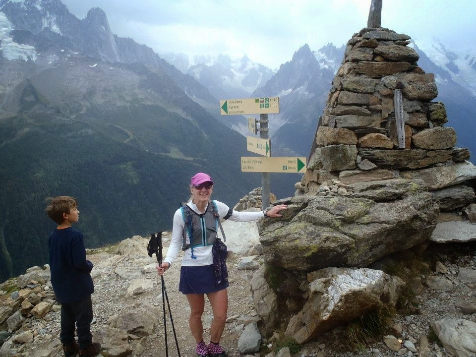 Here I am on top of a peak in the French Alps of the Mont Blanc region