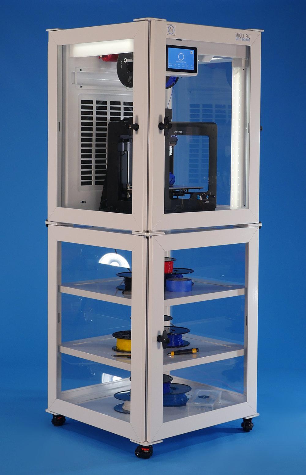Printer, filaments, castors, spool holder, and fire suppression sold separatley