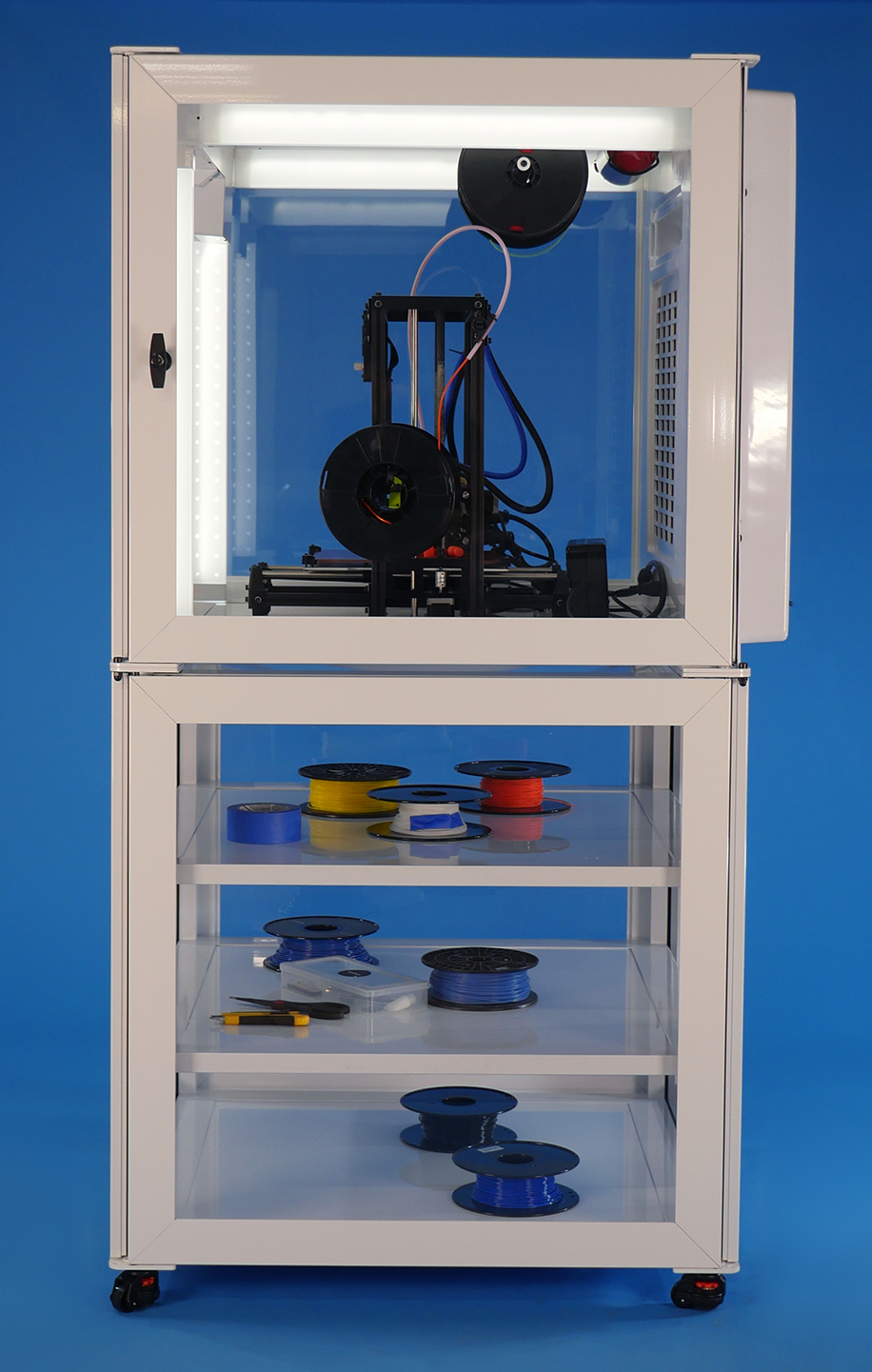 Printer, castors, filament ,and tools not included