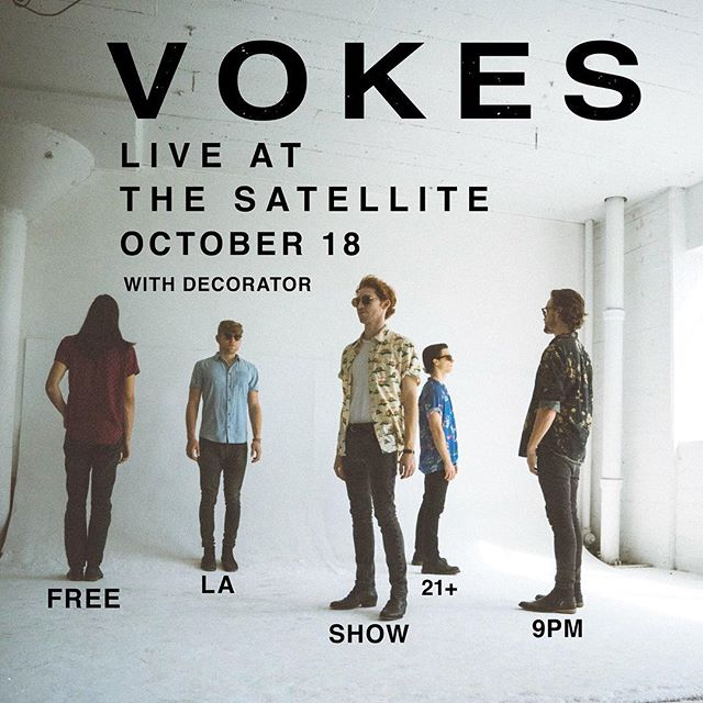 Catch us @thesatellitela this coming Wednesday. We'll be playing our new EP! @vokesband 📸 @massimomenegaz