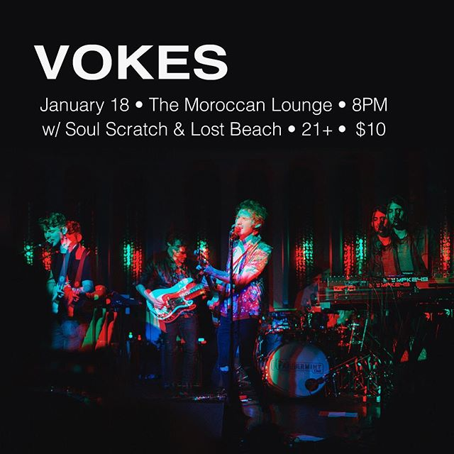 VOKES is hitting the @moroccanlounge this Thursday with Soul Scratch and Lost Beach. We have some new songs and I couldn't be more stoked for the show 🤙🏻