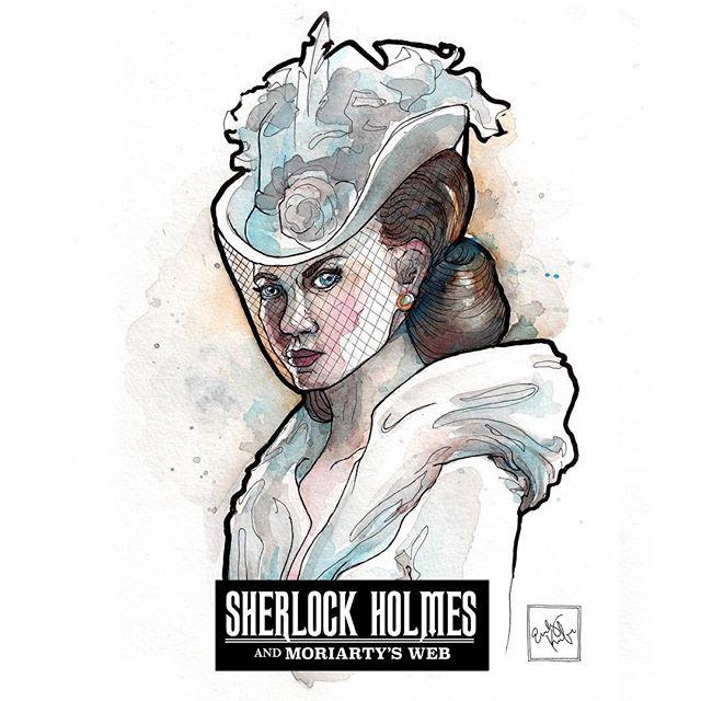 """Life is seldom about the destination, Sherlock,"" smiled Irene.  #gameart #sherlock #sherlockholmes #gamenight #art #ireneadler #badass #character #characterart"