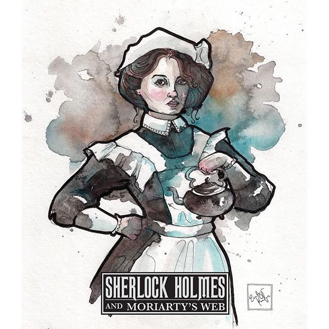 You never know what a chambermaid knows... 🕵🏻‍♀️👣👁 #sherlock #witness #sherlockholmes #maid #character #characterart #mystery #game