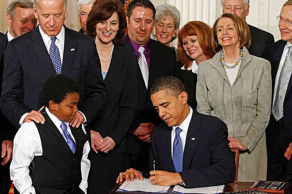 Almost 7 years ago to the day, Pres. Obama signed his signature bill - the ACA - into law.  In contrast to the current administration, he accomplished what he set out to do early in his presidency.