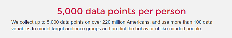 Straight from Cambridge Analytica's website