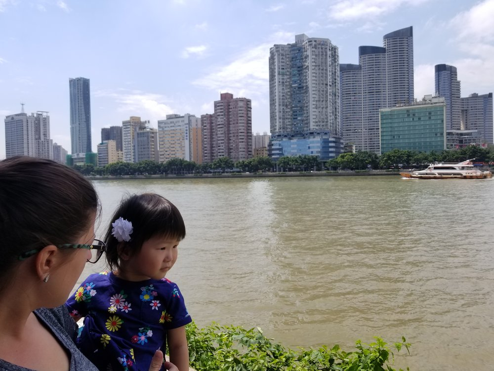 Looking out over the Pearl River.