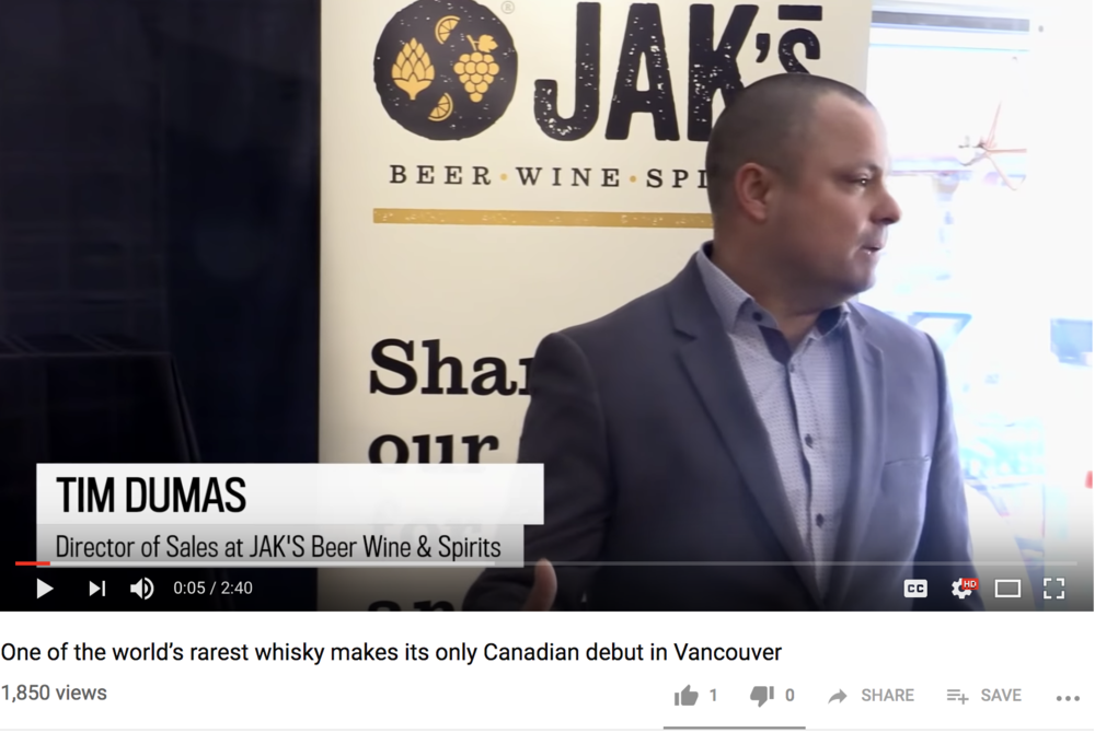 One of the world's rarest whisky makes its only Canadian debut - December. 10, 2018 By Vancouver Sun