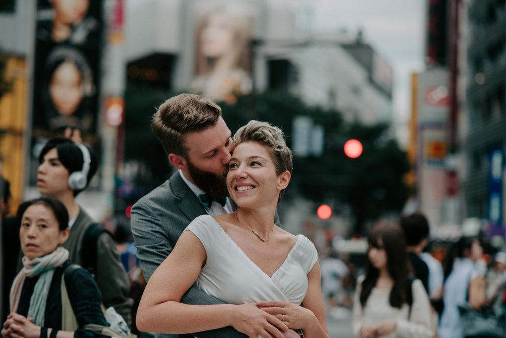 japan tokyo elopement wedding shibuya