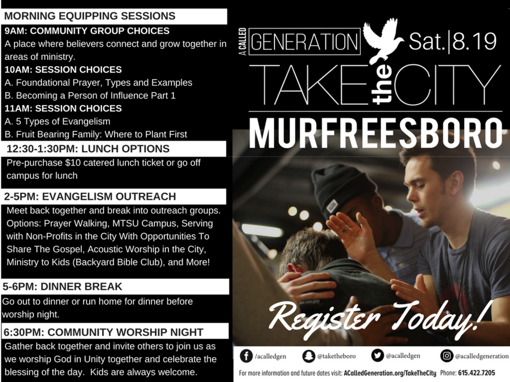 Take The City Murfreesboro August