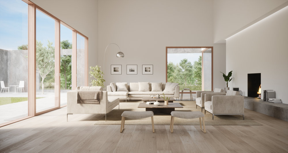 Lane B Living Room Rendering