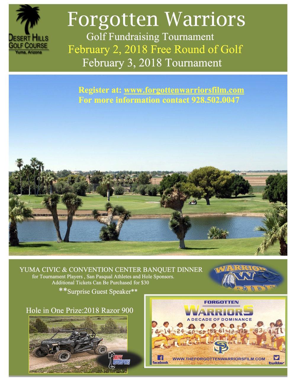 2018 Desert Hills Golf Tournament
