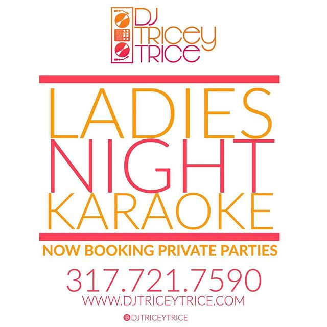 Take Ladies Night to a new level ✌🏾 Now Booking Private Parties #indyevents #indianapolisdj #karaokedj #karaokenight #dj