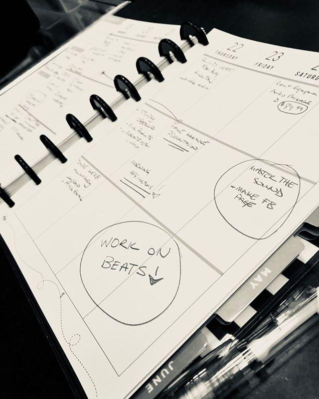 Gotta work that planner! PROGRESSION✌🏾 On Sunday we reset #djlife #karaokedj #privatedj #indianapolis