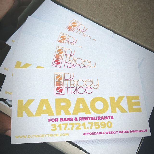 New promo cards just came in the mail 📫I guess I'll be doing some Friday prospecting 😎#OperationBookUpTheSummer #djlife #karaoke #indyevents #indybars #indyrestaurants