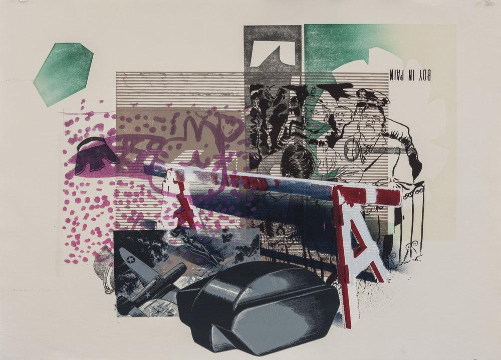 2018, silkscreen, linocut, lithography