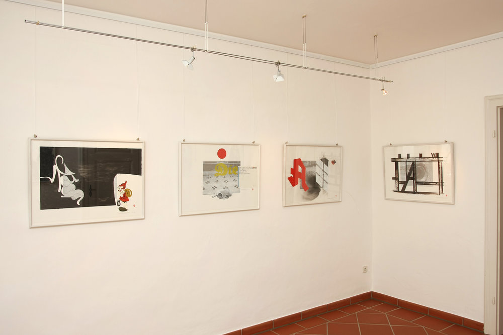 Junge Kunst exhibition, Siedenhans & Simon Galerie—Gütersloh, Germany