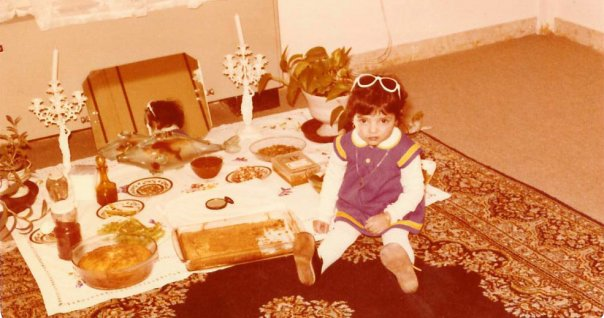 A very young me celebrating Nowroz.