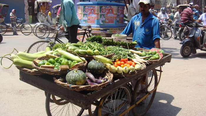 Vegetable merchant in India