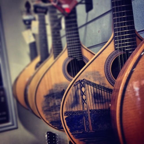Traditional Portuguese guitars.  Image by Kaysha shared under a Creative Commons (BY-NC-ND) license.