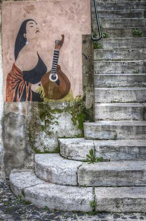 Fado street art. Image courtesy of  Enrique M. Luna.