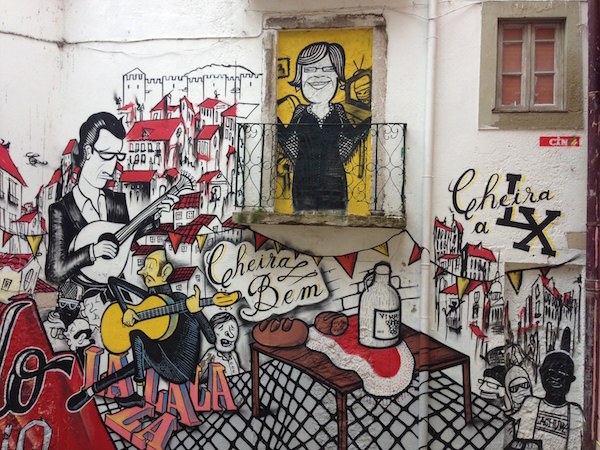 Fado Vadio: An urban tribute to F  ado   at Escadinhas de Sao Cristovao.    Image by  Jan Hamlet  shared under a Creative Commons (BY-NC-SA) license.