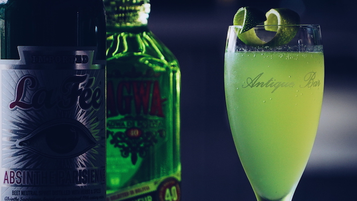 Agwa and Absinthe are the key components of the Green Hornet