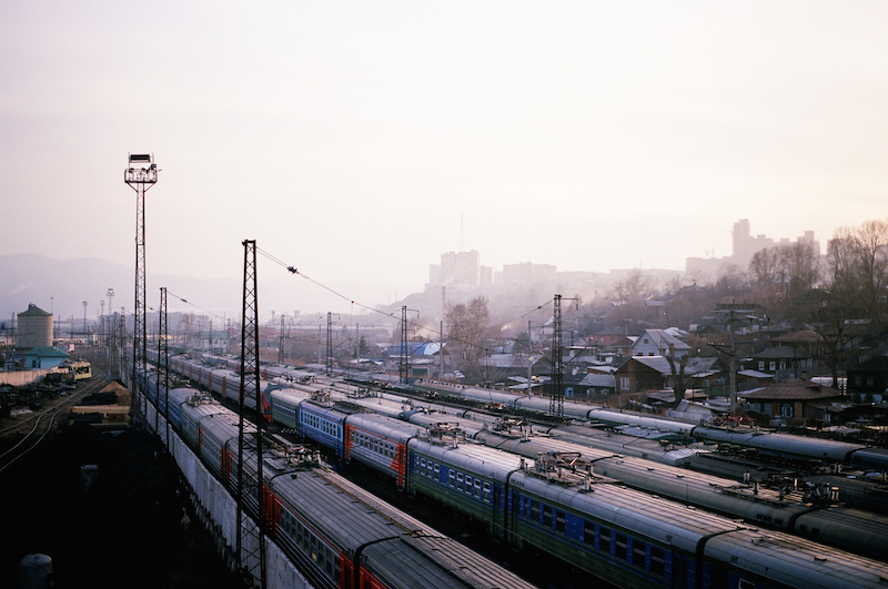 Trains in Krasnoyarsk Krai. Image courtesy of  Aleks Ossie Pringles .