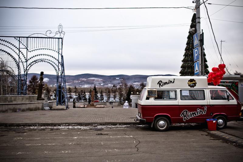 Rimini van in Krasnoyarsk. Image courtesy of  Marco Fieber .