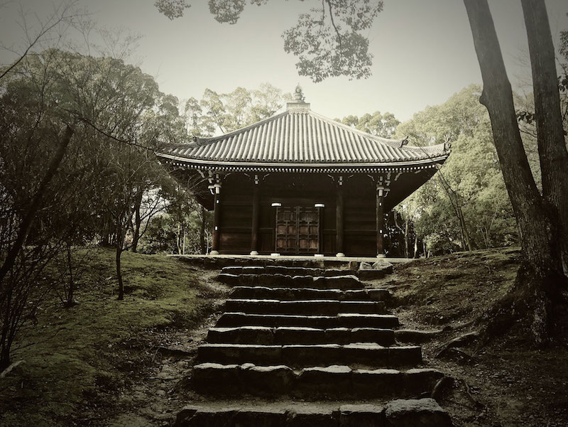 Traditional Japanese temple - exterior architecture