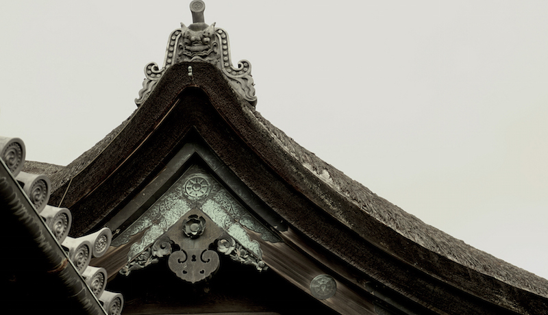 Intricate traditional Japanese carving