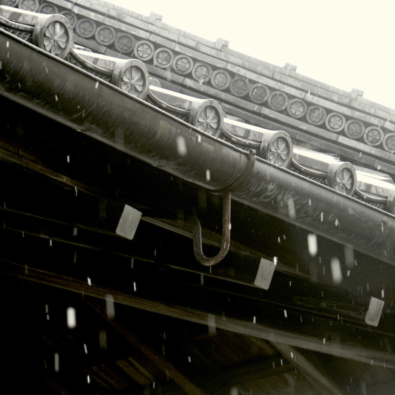 Japanese winter - detailed roofing design