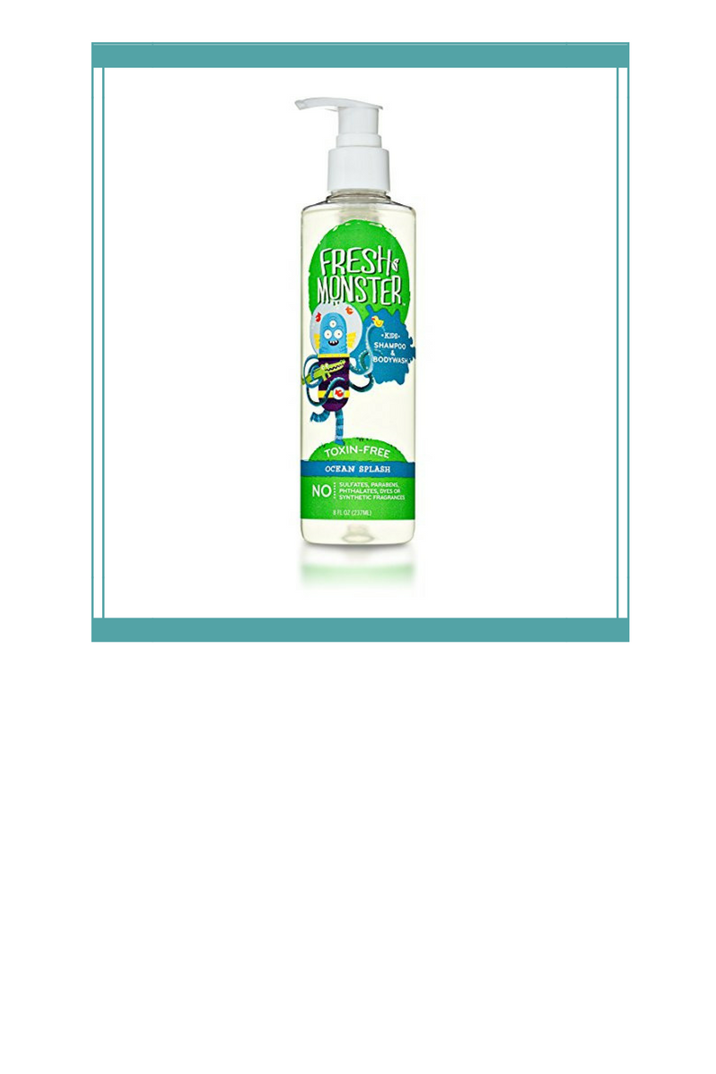 Toxin-Free Kids' Shampoo + Body Wash  - I've used this Fresh Monster Toxin-Free Shampoo + Body Wash on the kids for a year now. It smells light and fresh and works great as both body wash and shampoo (and my daughter has some seriously long hair!)