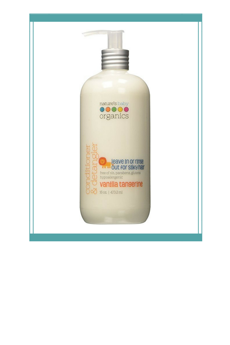 Organic Conditioner - Leave in or rinse out is so important right now for my six-year-old, because when she does it herself, there's always a little bit left behind. When she uses this light conditioner on her fine hair, even if she doesn't rinse it all out, her hair is not weighed down, yet still easy to comb through. This smells heavenly and has a pump! What more could you ask for in an organic kids conditioner (besides the Amazon Prime shipping!)