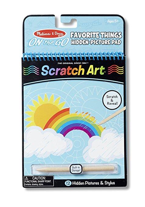 Travel Scratch Art Kit