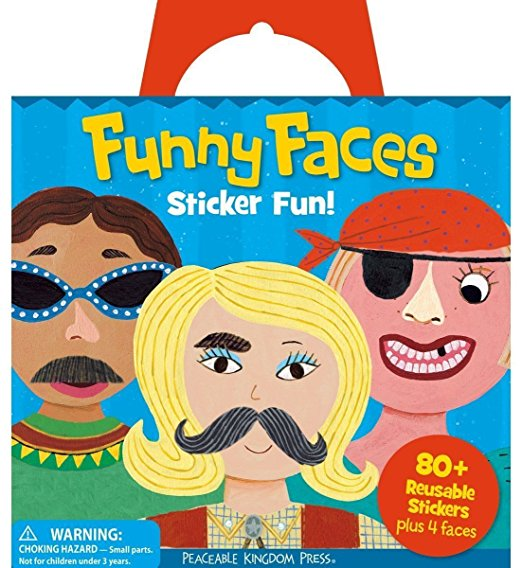 Funny Faces Reusable Stickers