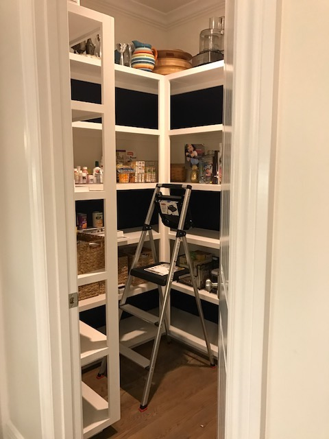 After the organizing:  paint every other shelf