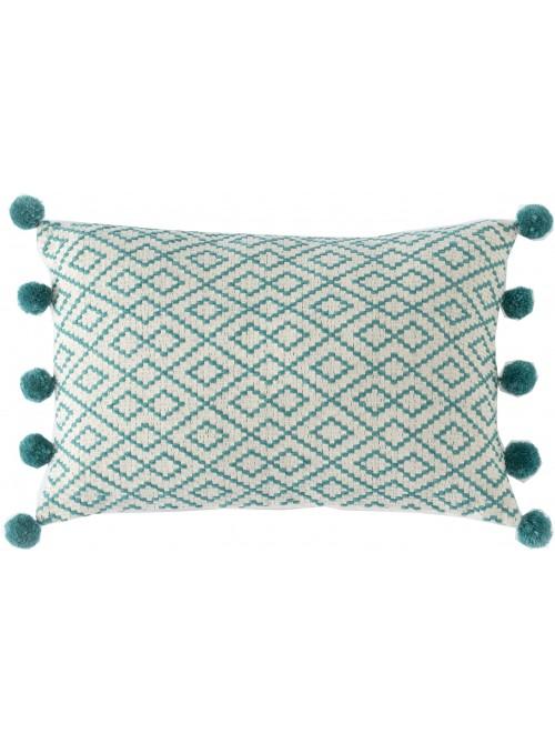 Teal Tassel Pillow