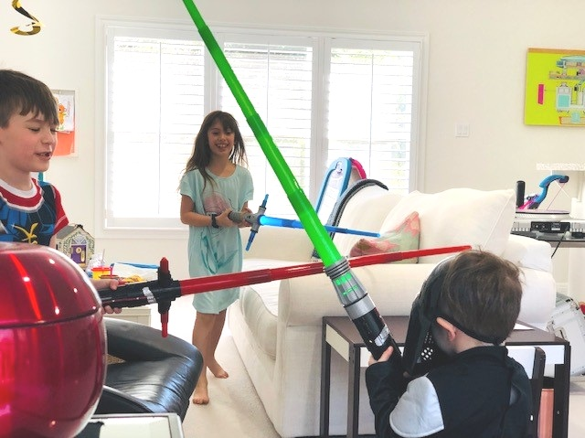 You know when they're home sick with little colds and fevers but they're still battling each other with light sabers? That's where we're at right now.
