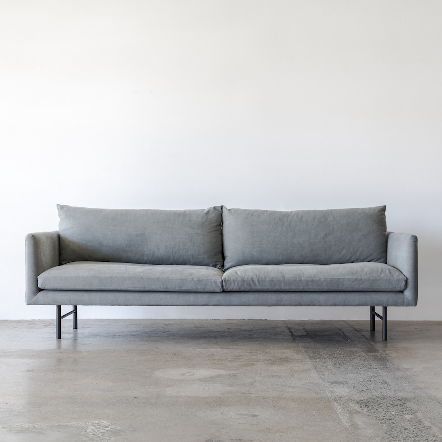 Our Louis sofa in Gunmetal