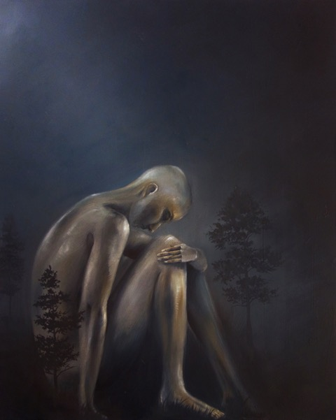 Austin Howlett's  work is driven by a desire to invite the viewer into an emotional connection of vulnerability. His figurative images illustrate a connection and unity with the world through emotion and the comfort of the nature which surrounds them.  He challenges the viewer to participate in an empathetic attitude with their own vulnerability.