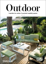 The Futho featured in the outdoor supplement of Hospitality Interiors